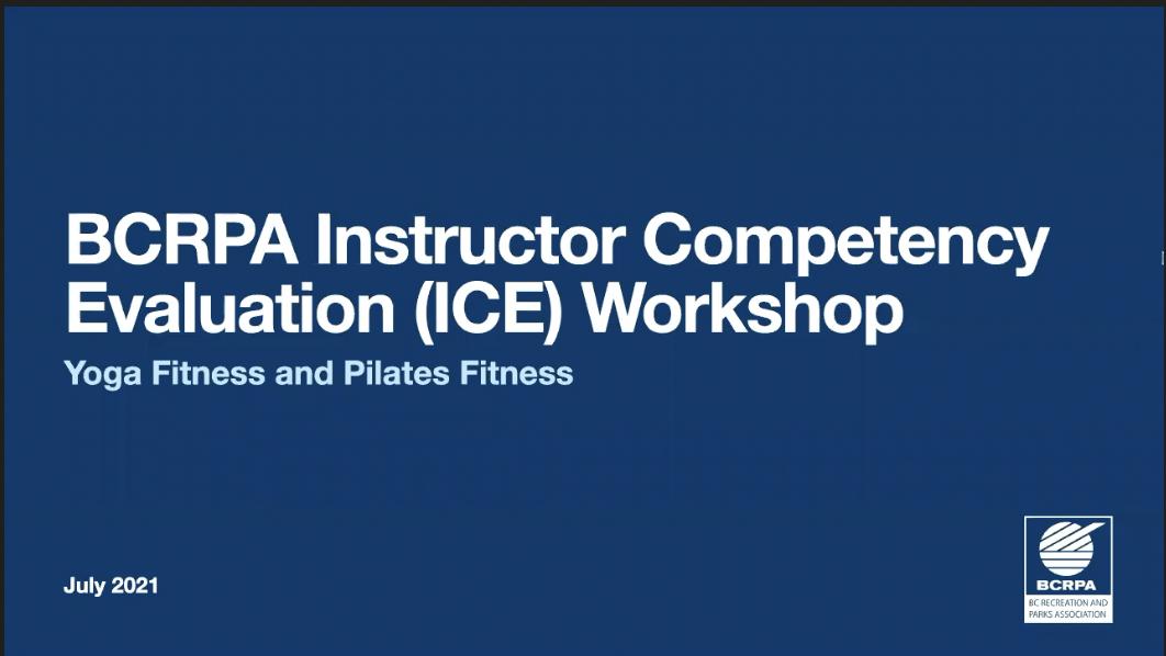 Yoga Fitness & Pilates Fitness ICE Workshop