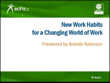 New Work Habits for a Changing World of Work - Brenda Robinso