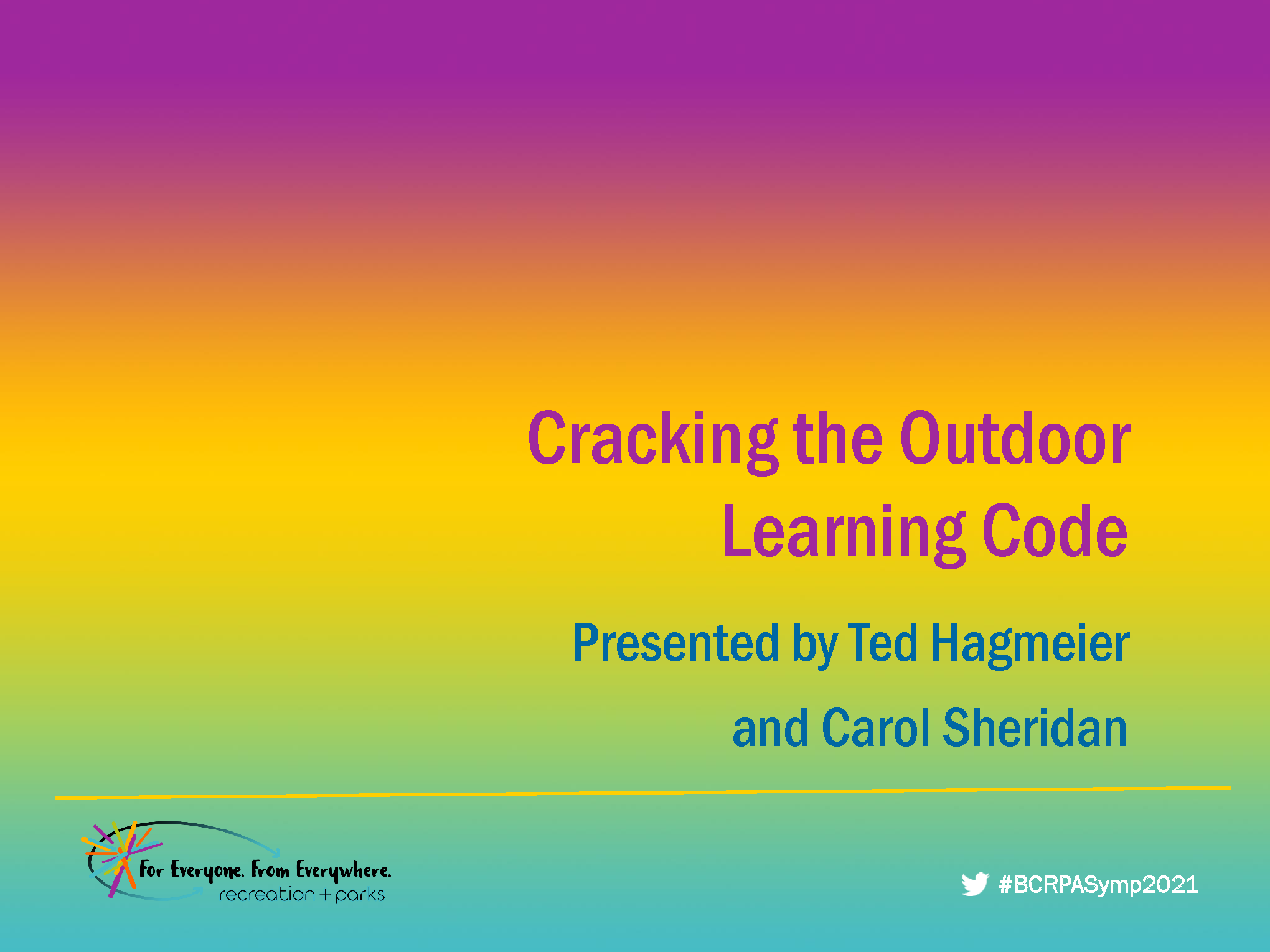 Cracking the Outdoor Learning Code