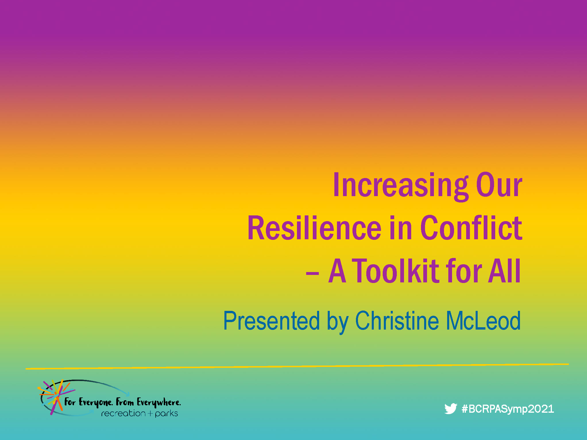 Increasing Our Resilience in Conflict – A Toolkit for All