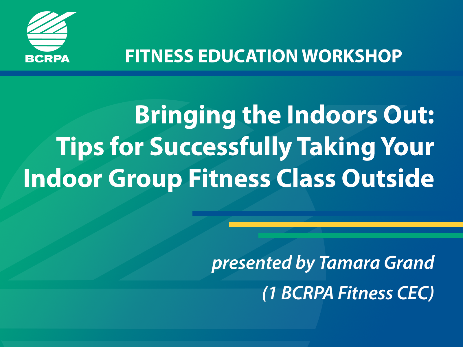 Bringing the Indoors Out: Tips for Successfully Taking your Indoor Group Fitness Class Outside